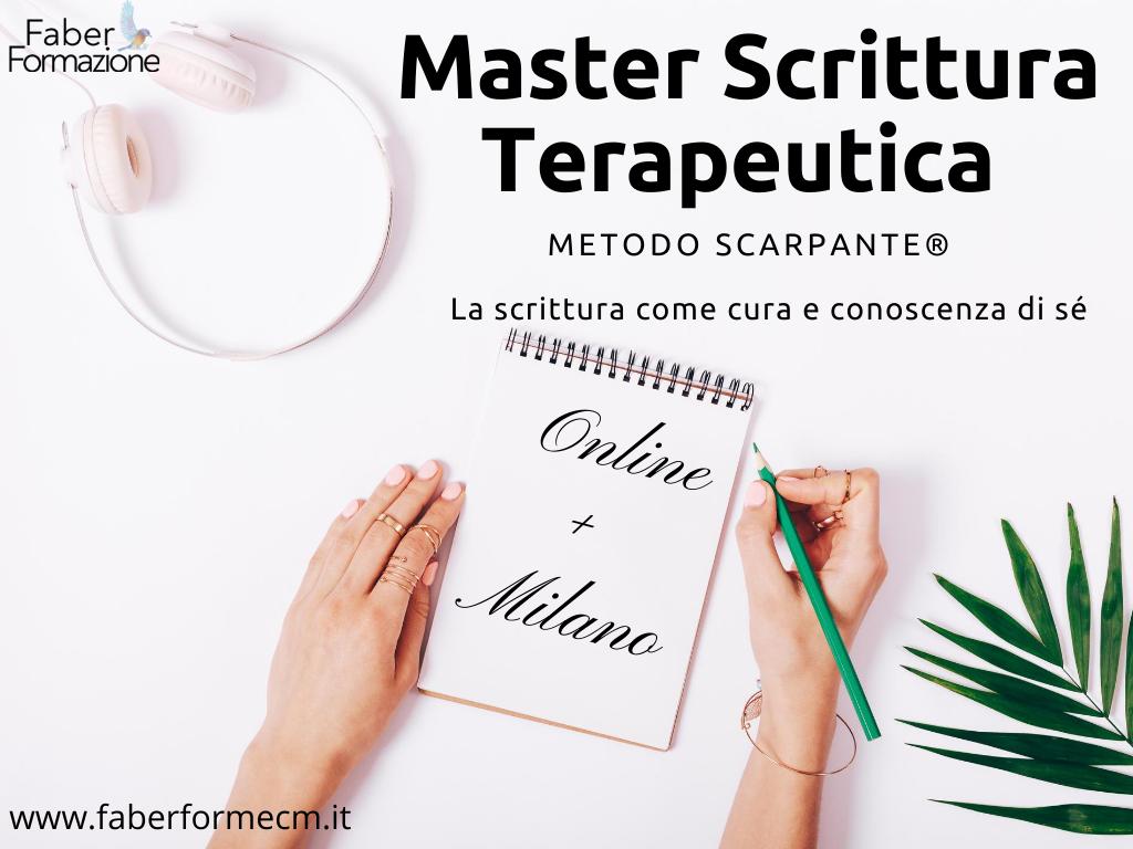 Master in Scrittura Terapeutica Metodo Scarpante®
